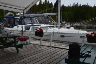 On the dock at Texada Boat Club.