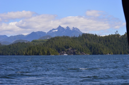 Leaving Sullivan Bay