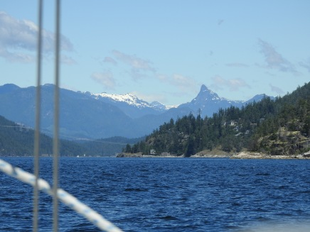 When you see Mount Denman you know you're close to Desolation Sound