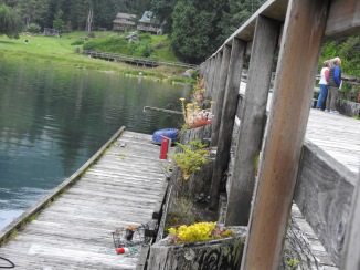 The inside dock at Shoal Bay