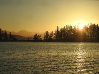 Sunset on Rebecca Spit